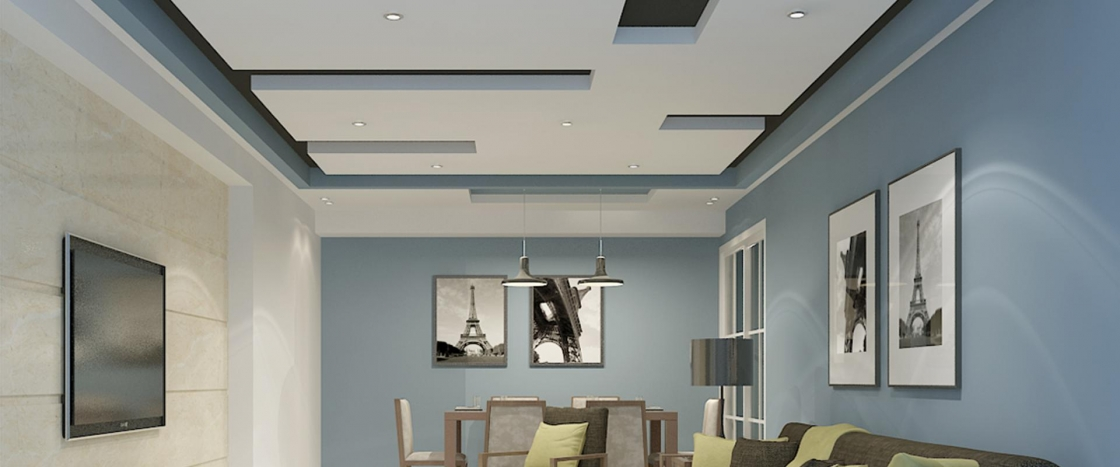 Designer Ceiling - Living Room