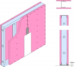 GypWall® CLASSIC Fire Rated Wall System drawing