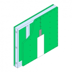 GypWall® CLASSIC Moisture Resistant System drawing