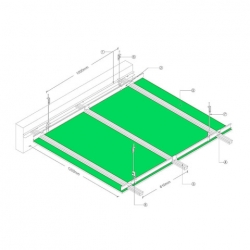 GypLock® Concealed Ceiling System drawing