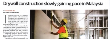 Drywall construction article in The Edge Malaysia thumbnail image
